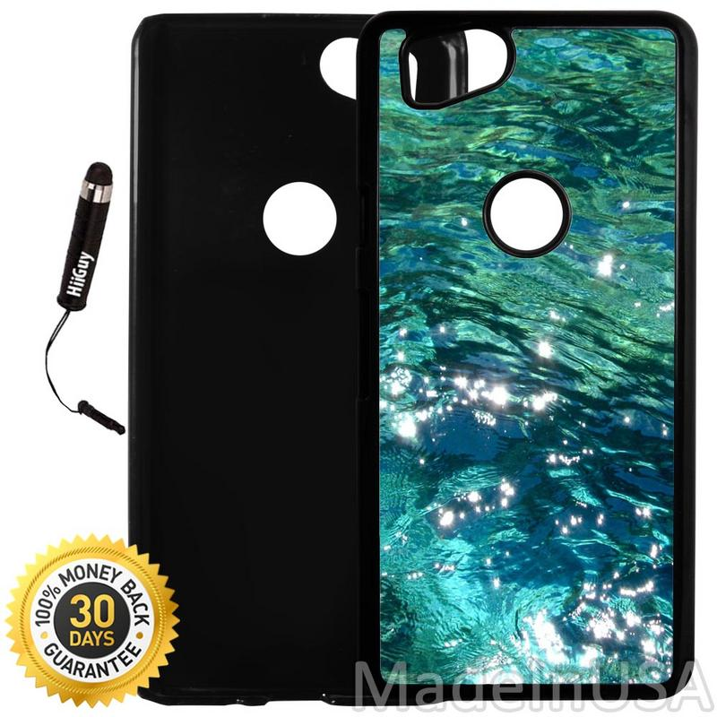 Custom Google Pixel 2 Case (Beautiful Ocean Water) Plastic Black Cover Ultra Slim | Lightweight | Includes Stylus Pen by Innosub
