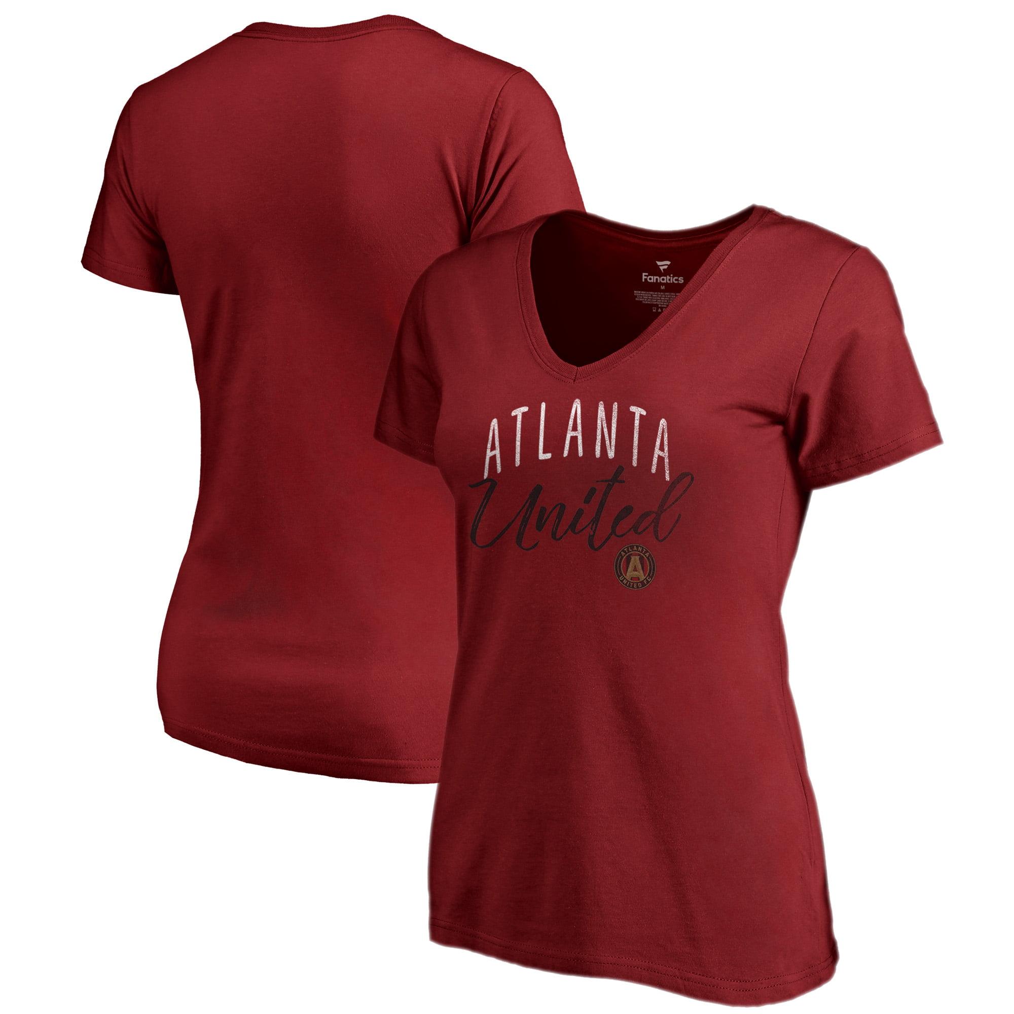 Atlanta United FC Fanatics Branded Women's Graceful V-Neck T-Shirt - Red