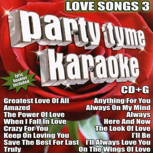 Party Tyme Karaoke - Party Tyme Karaoke: Vol. 3-Love Songs [CD]