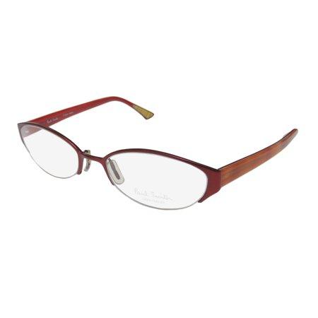 9c00995bfc New Paul Smith 196 Womens Ladies Cat Eye Half-Rim Burgundy   Orange Frame  Demo Lenses 52-18-145 Eyeglasses Spectacles - Walmart.com