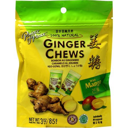 Prince Of Peace Ginger Candy Chews With Coffee, Mango, Mandarin Orange Flavored