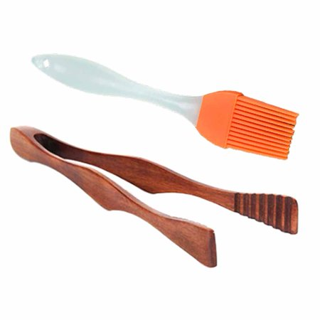 KABOER 2-Piece Grilling Set - Buffet Barbecue Cake Cream Clip And High Temperature Baking Barbecue Brush