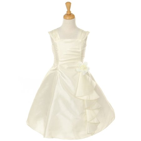 Cinderella Couture Girls Ivory Taffeta Corsage Flower Girl Dress 8-14