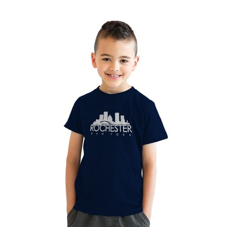 crazy dog tshirts - youth rochester new york t shirt ny shirt hometown pride tee for kids