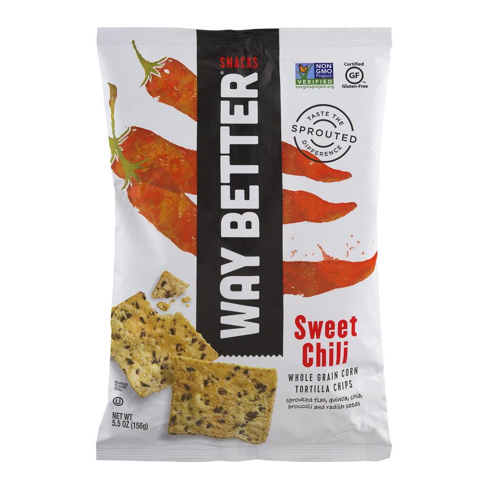 Way Better Snacks Sweet Chili Whole Grain Corn Tortilla Chips, 5.5 OZ