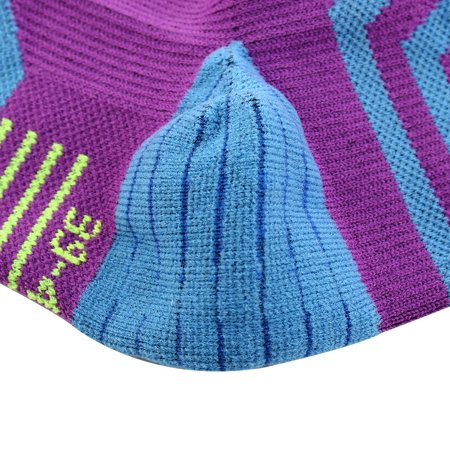 Men Women Exercise Running Cycling Hiking Sports Casual Socks Purple Pair - image 3 of 5