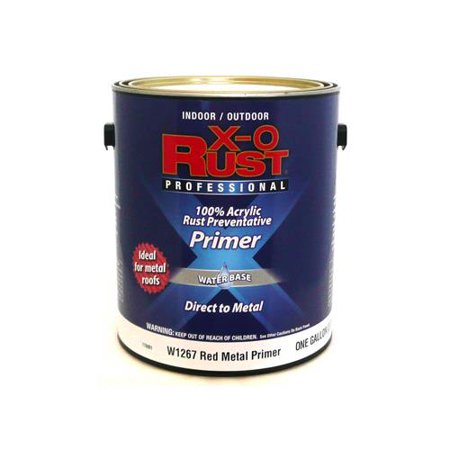True Value Mfg W1267-GL Anti-Rust Primer, Interior/Exterior, Red Metal, (Best Anti Rust Paint For Metal)