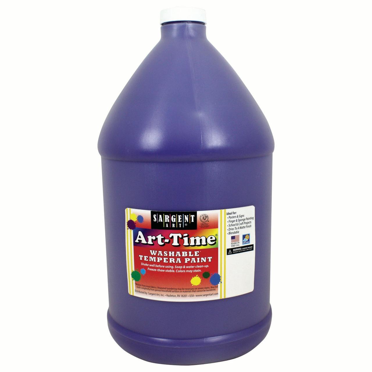 Art-Time® Washable Tempera Paint, Violet - Gallon