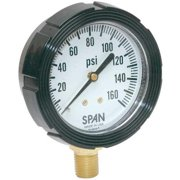 SPAN LFS-210-160-G-CERT Pressure Gauge,0 to 160 psi,2-1/2In
