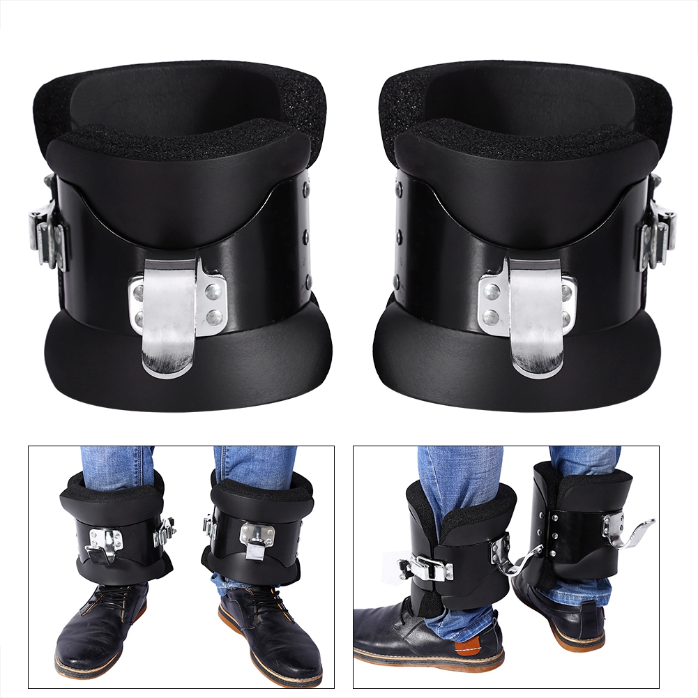Yosoo Inversion Gravity Boots, Anti Gravity Boots,1 Pair Black Anti Gravity Boots Inversion Therapy Hang Up Boots For Fitness Exercise