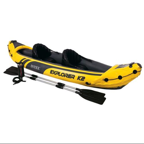 Intex Explorer K2 2-Person Inflatable Kayak + Aluminum Oars And Pump | 68307EP