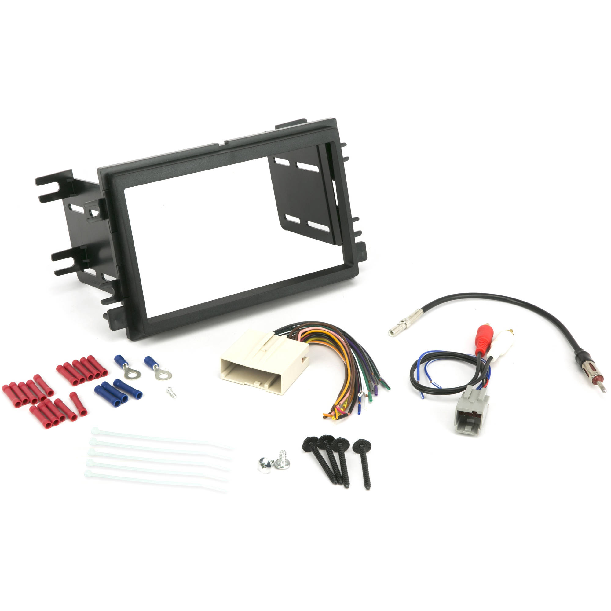 INSTALL CENTRIC ICFD6BN Ford/Lincoln/Mercury 2004-08 Double DIN, Premium Sound Complete Car Stereo Installation Kit