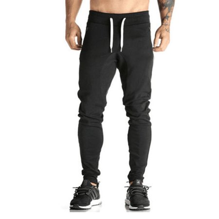 DYMADE Men's Joggers Pants Gym Sport Training Pants Fitness Running Trousers With Zipper Pockets
