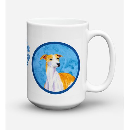 Whippet Dishwasher Safe Microwavable Ceramic Coffee Mug 15 ounce