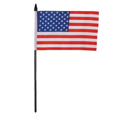 Fox Outdoor 84-64 4 x 6 in. USA Flag On A Stick - 84-64 - Outdoor