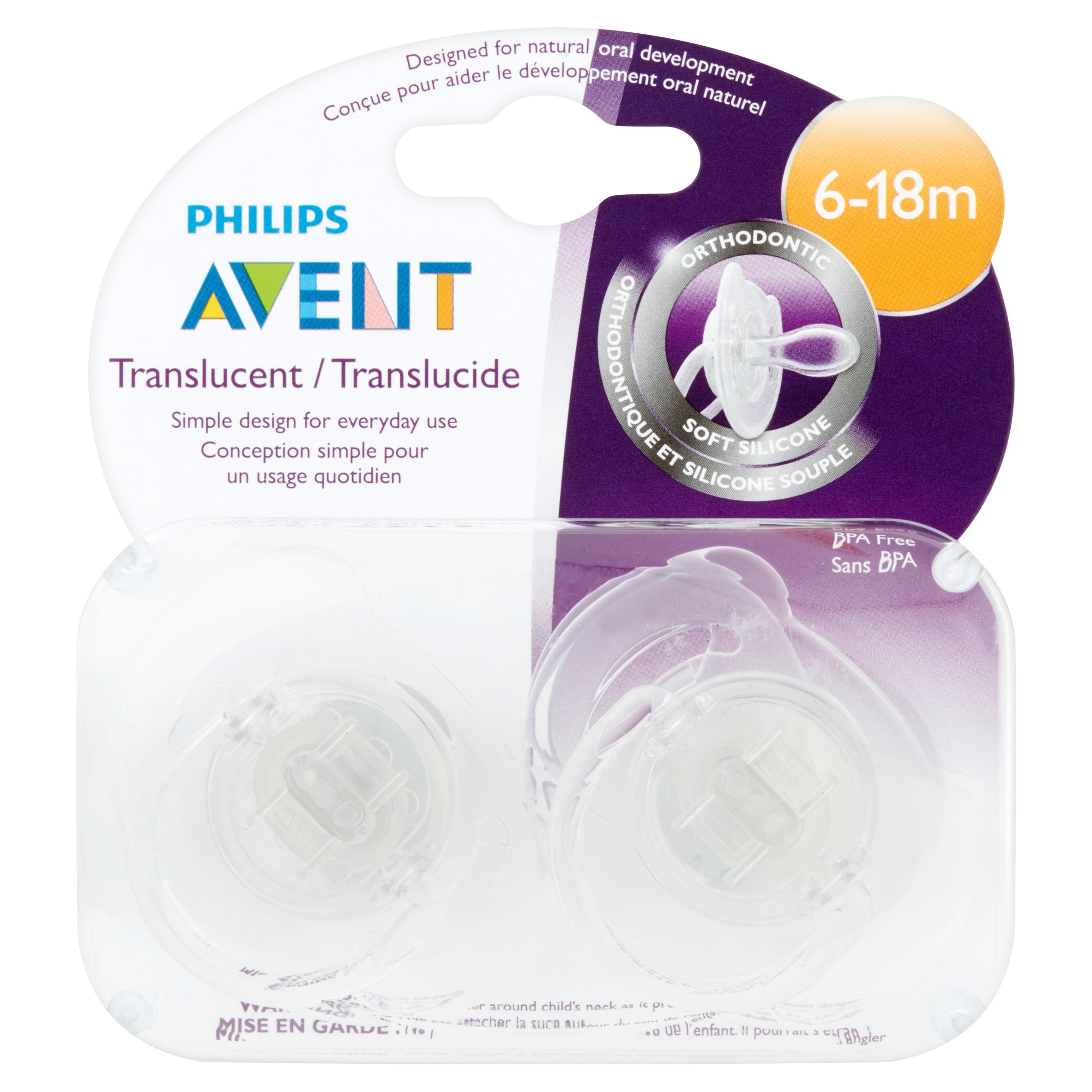 Philips Avent Translucent Orthodontic 6-18m