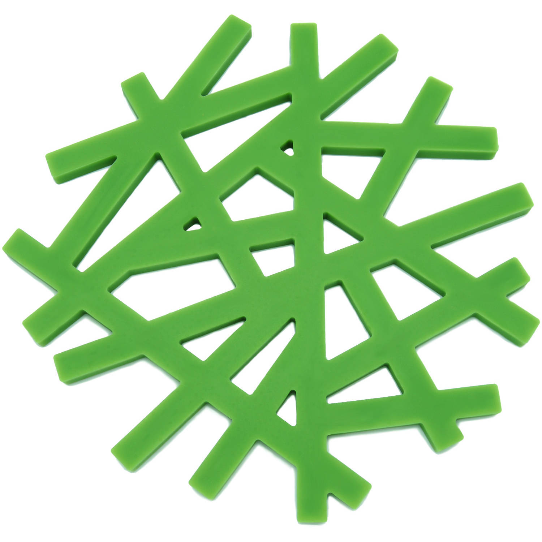 "Freshware 6.5"" Silicone Living Tree Trivets, Set of 2, KT-221GR"