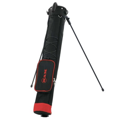 Ram Golf Pitch and Putt Lightweight Golf Carry Bag with Stand Black/Red 2009 Lightweight Stand Bag