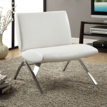 Prime Leather Look Accent Chair White With Chrome Metal Legs Ibusinesslaw Wood Chair Design Ideas Ibusinesslaworg