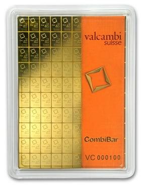 100x 1 gram Gold CombiBar™ - Valcambi (In Assay)