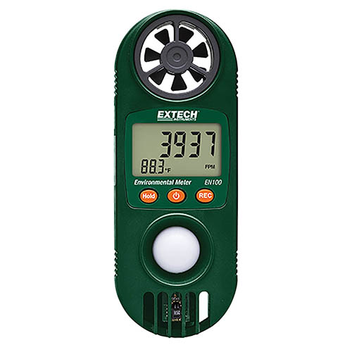 Extech EN100 Compact Hygro-Thermo-Anemometer with Light Sensor by Extech