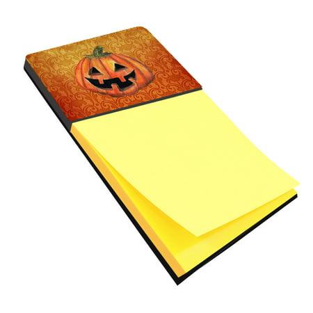October Halloween (October Pumpkin Halloween Refiillable Sticky Note Holder or Postit Note Dispenser)