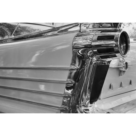 Tail light on 50s Oldsmobile Waterloo Quebec Canada Canvas Art - David Chapman Design Pics (19 x 12)