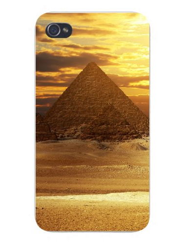 Apple Iphone Custom Case 4 4s Plastic Snap on Great Egyptian Pyramid of Giza w  Sunset by