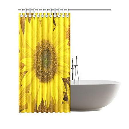 YUSDECOR Sunflowers Closeup Shower Curtain Waterproof Bath Curtain Decor 66x72 inch - image 1 de 2