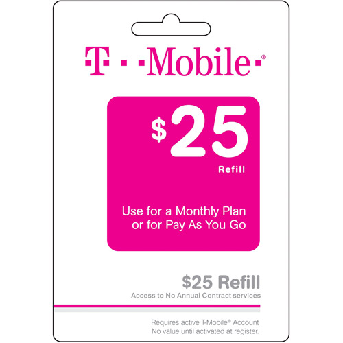 (Email Delivery) Tmobile $25 Wireless Airtime Card