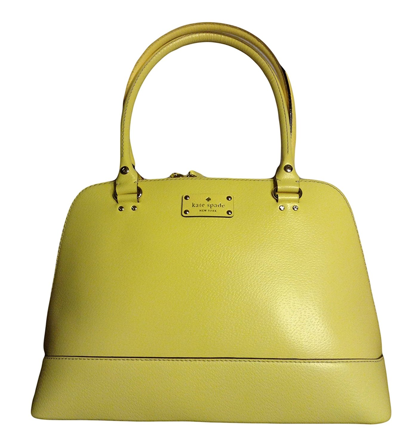 Kate Spade Wellesley Rachelle Handbag Limonium Yellow Lea...