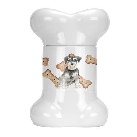 Schnauzer #2 Bone Shaped Treat Jar