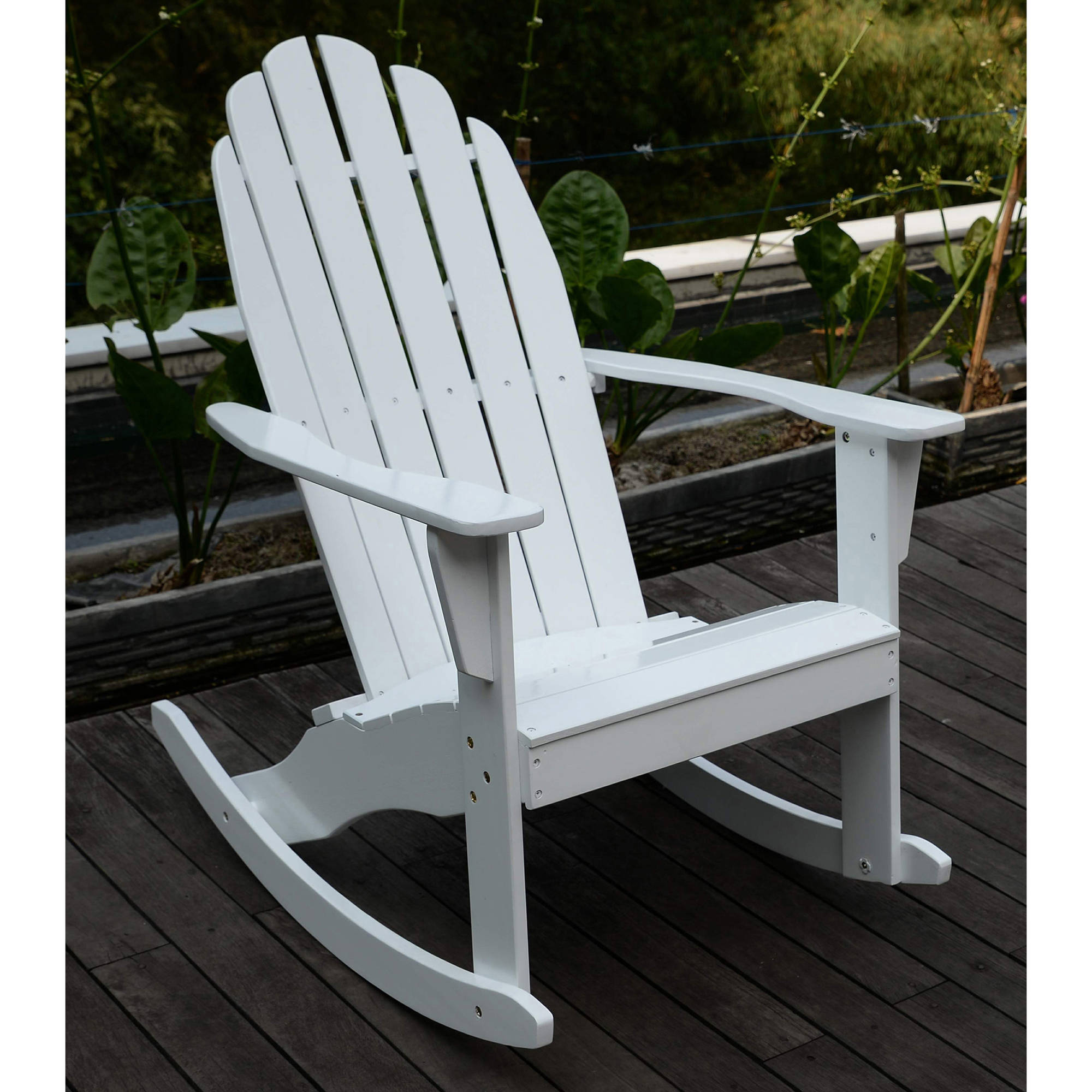 Adirondack Rocking Chair, White   Walmart.com