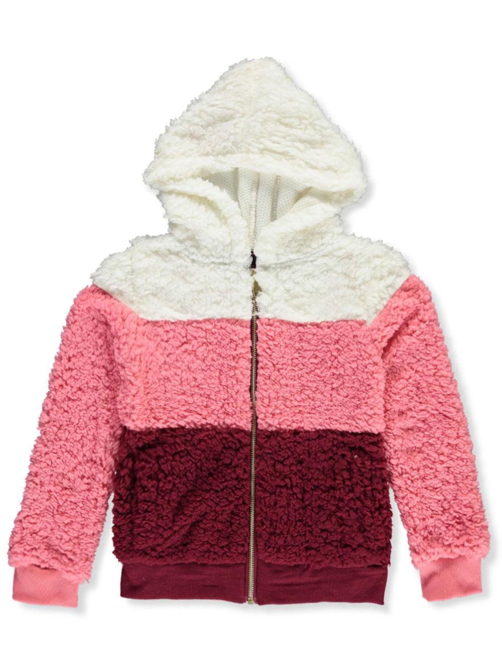 Chillipop Girls Striped Sherpa Hooded Jacket