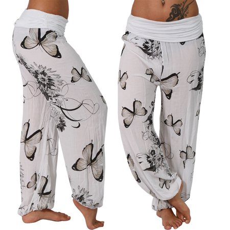 Women's Boho Printed Pants Aladdin Harem Pants - Aladdin Harem Girls