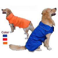 AGPtEK Waterproof Nylon Dog Winter Coat Jacket for Large Dogs - Blue L