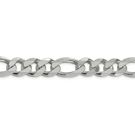 925 Sterling Silver 12.75mm Figaro Chain Bracelet - image 2 de 4