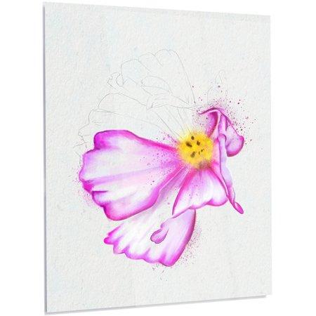 Design art floral fantastic pink flower watercolor graphic art on design art floral fantastic pink flower watercolor graphic art mightylinksfo