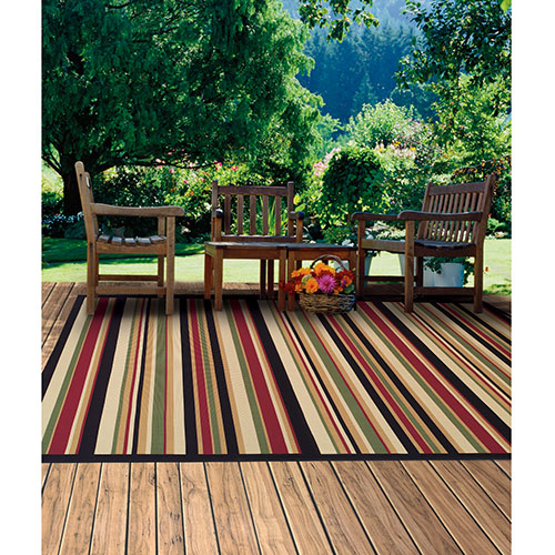 60 X 90 Tributary Stripe Heat Set Polypropylene Indoor Outdoor