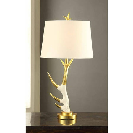 Antler Table Lamp with Shade On/Off CFL Bulb (Antler Table Lamp)