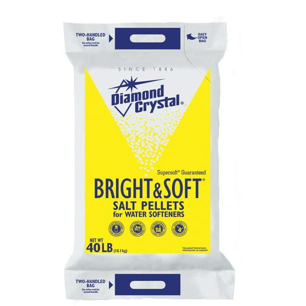 Diamond Crystal Bright Soft Water Softener Salt Pellets 40 Lb Walmart Com Walmart Com