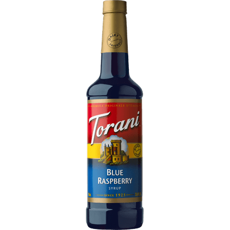 Torani Blue Raspberry Syrup 750ml (Sugar Free White Chocolate Syrup)