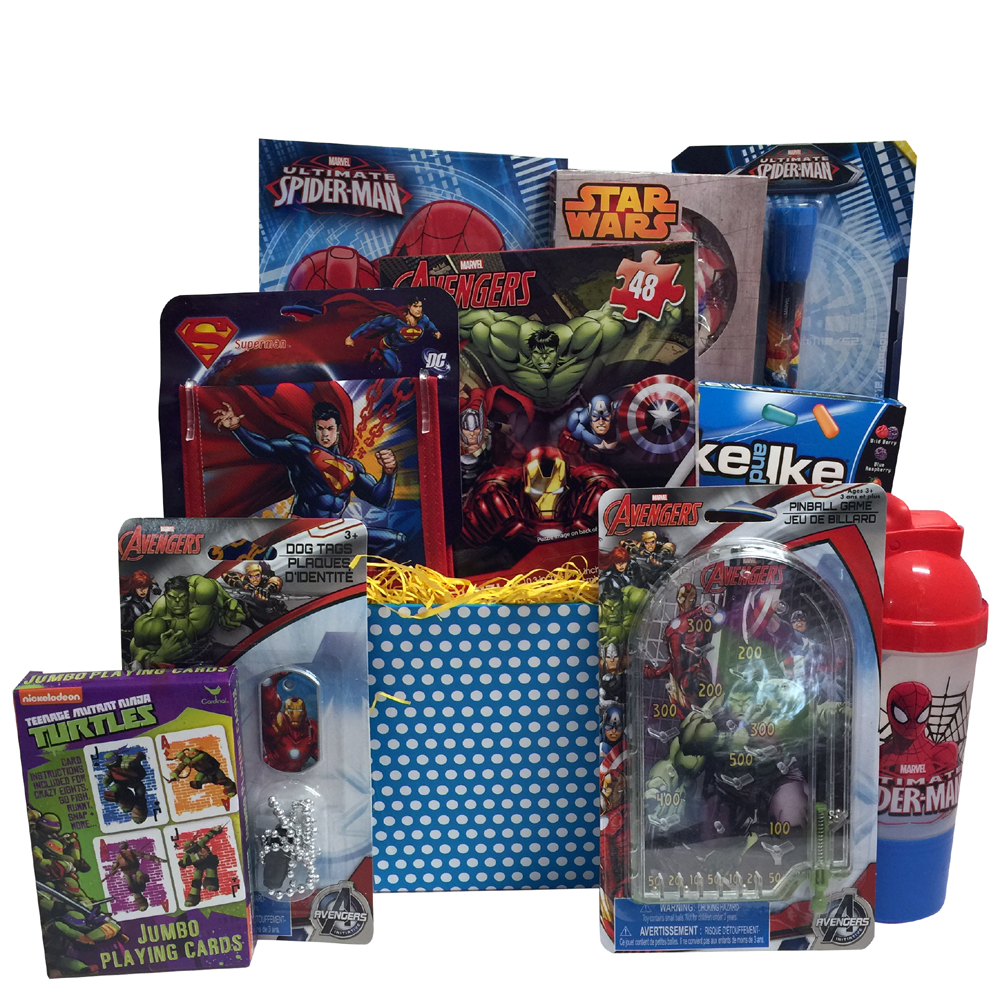 Ultimate Super Hero Valentine Gift Baskets For Kids Fun And Games