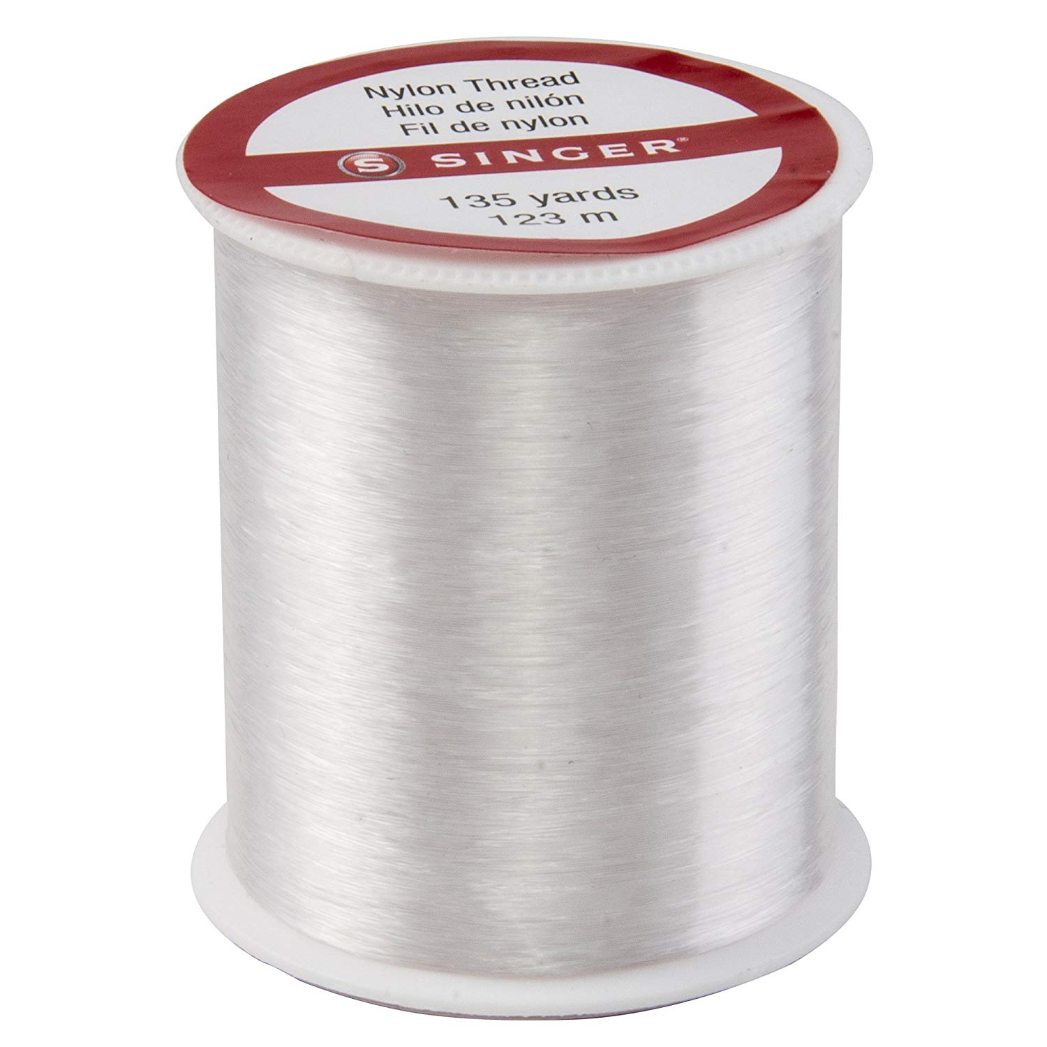 Singer Clear Invisible Nylon Thread. 135-Yard