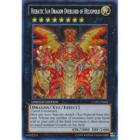 Yu-Gi-Oh! - Hieratic Sun Dragon Overlord of Heliopolis (CT09-EN004) - 2012 Collectors Tins - Limited Edition - Secret