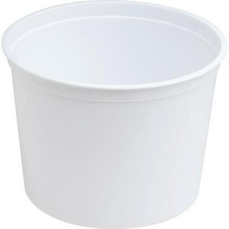 128 Oz Bucket (Generic Plastic 64 Oz Round Ice Bucket in White )