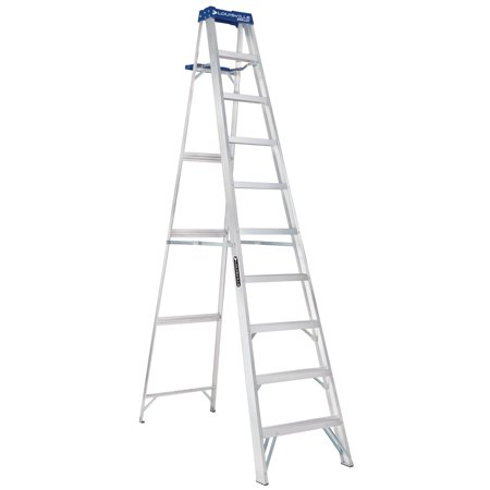 Louisville Ladder AS2110 10 ft.Aluminum Step Ladder, Type I, 250 lbs. Load Capacity
