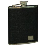Stainless Steel/Black in. Buffalo in. Leather Flask