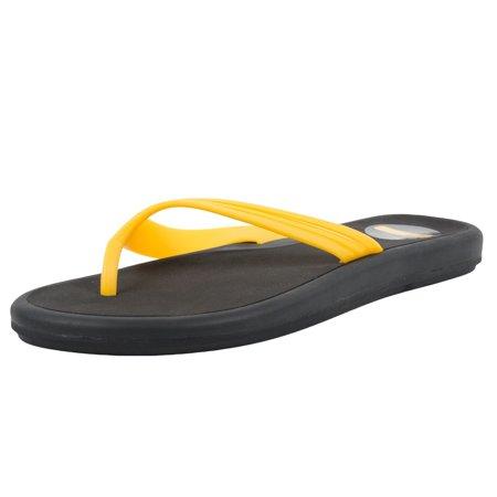Nike X Laf 10  2 Womens Pazuru Thong Sandals Black Varsity Maize 309976 071