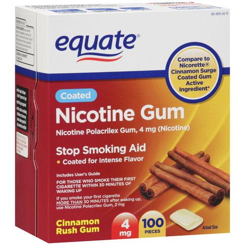 Equate Cinnamon Rush 4mg Nicotine Gum, 100ct